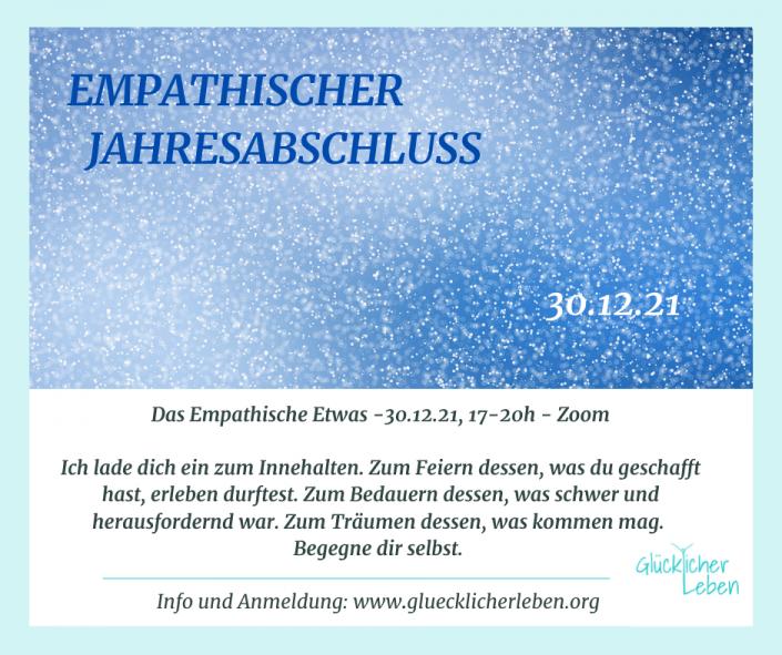 """Janne Ellenberger: Ein Platz im Online-Workshop """"Emphatischer Jahresabschluss - Feiern, Bedauern, Träumen"""" am 30.12., 17-20h auf Zoom"""