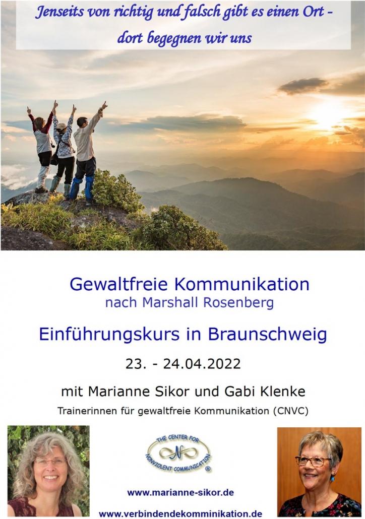 Marianne Sikor und Gebi Klenke: Sehr gerne geben wir einen kostenlosen Seminarplatz in unserer Einführung am 23.-24. April 2022 in Braunschweig in den Lostopf!