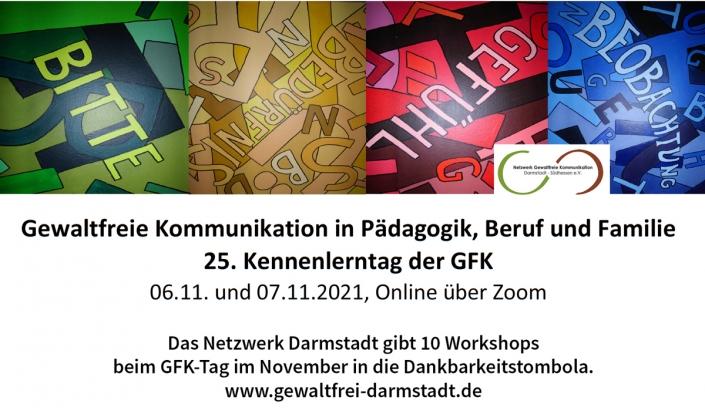 Netzwerk Darmstadt: wir geben 10 Workshops beim GFK-Tag im November in die Dankbarkeitstombola.