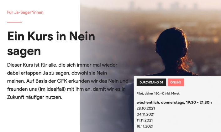 Tilman Krakau: 2x kostenlose Teilnahme am Kurs in Nein sagen