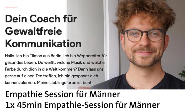 Tilman Krakau: 1x 45min Empathie-Session für Männer