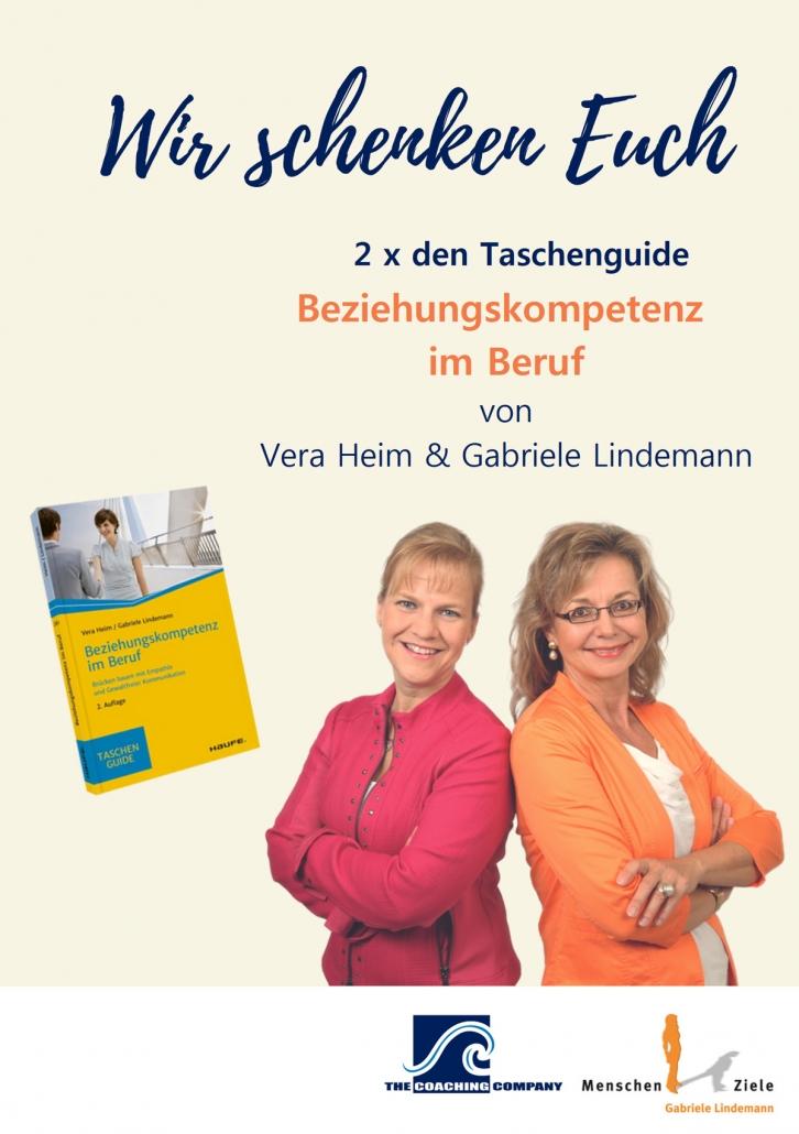 Gabriele Lindemann & Vera Heim: Wir schenken Euch 2x den Taschenguide Beziehungskompetenz im Beruf