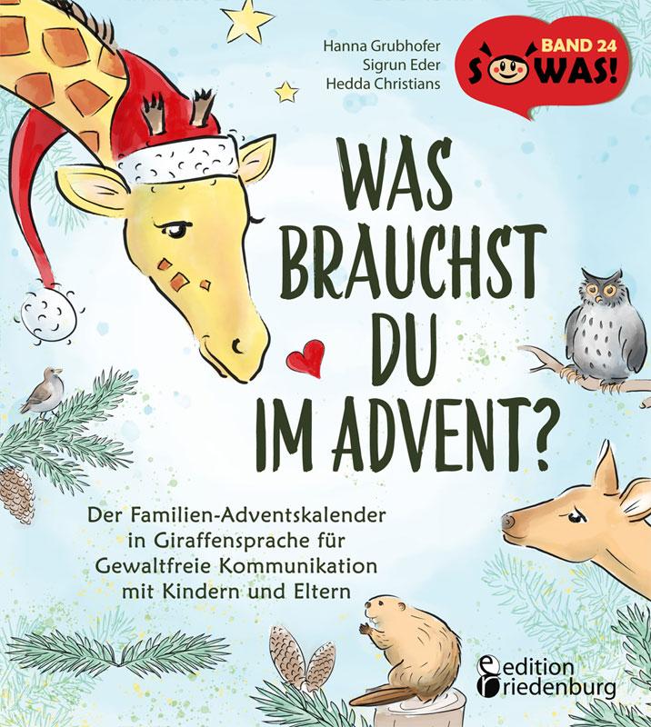 """Hanna Grubhofer: Ich lege ein Exemplar meines Buches """"Was brauchst du im Advent"""" in die Tombolatrommel."""