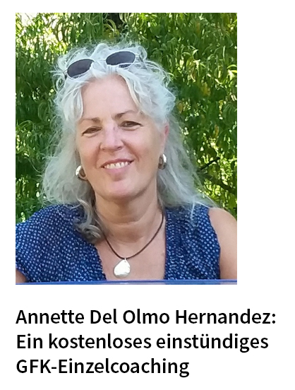 Annette Del Olmo Hernandez: Ein kostenloses einstündiges GFK-Einzelcoaching